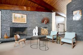 Stone and wood for ranch style