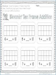 Frame Worksheets Kindergarten Printable Ten Show For Grade Spelling ...