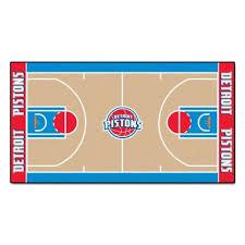 nba detroit pistons 3 ft x 5 ft large court runner