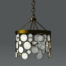recycled glass chandelier diy emery indoor outdoor blue