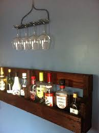 pallet liquor rack. Wall Bar Shelves Pallet Liquor Shelf With Rake Wine Glass Rack Wet I