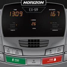 pre owned horizon fitness ex 59 elliptical trainer