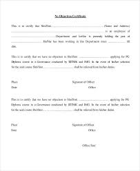 Noc Document Format 542226600037 Format Of Noc Letter Photo 52