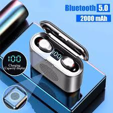Tai Nghe Không Dây F9 3 Trong 1 TWS Mini Bluetooth 5.0, Tai Nghe Không Dây Âm  Thanh Nổi Thể Thao Cảm Ứng Loa Âm Thanh Vòm 9D