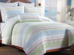 coastal sea stripe 3pc king quilt set