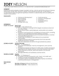 Shift Leader Trainee Resume Sample