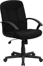 fabric office chairs. Beautiful Fabric Flash Furniture MidBack Black Fabric Executive Swivel Chair With Nylon Arms Inside Office Chairs R