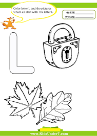 Kids Under 7 Letter L Worksheets And Coloring Pages