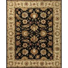 jaipur rugs mythos 5 x 8 hand tufted wool rug in black and taupe rug102971