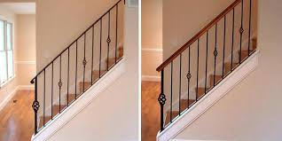 replace stair railing. Railing Repair Incredible Replace Stair Metal Iron Balusters Designs Wood Banister Throughout Y