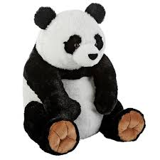 animal alley  inch panda  black and white  stuffed teddy bears