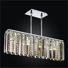 linear glass chandelier crystal chandelier sonesta 625 by glow lighting