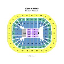 70 Comprehensive Kohl Center Seat Map