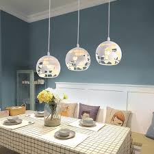 modern led chandelier pendant lights three heads for dining room bar coffee house kitchen