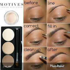eyebrow shadow tutorial. makeup eyebrow tutorial by m otd motives kit a perfect way to get those shadow r