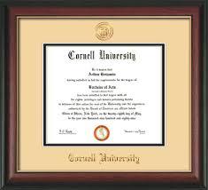 cornell university diploma frame rosewood w gold lip w cornell  cornell u diploma frame rose gold l w cornell seal cream on black