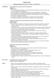 Aircraft Maintenance Technician Resume Samples Velvet Jobs