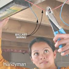 how to replace a fluorescent light ballast the family handyman photo 2 cut the old ballast wiring