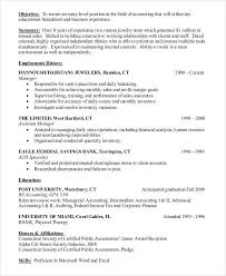 Objective Accounting Resumes 26 Accountant Resume Templates Pdf Doc Free Premium