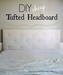 DIY Cheap Tufted Headboard- Made with a piece of $10 styrofoam insulation  board and faux