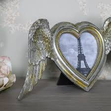 silver angel wings heart photo frame silver angel wings heart photo frame