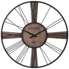 old time black metal wall clock hobby