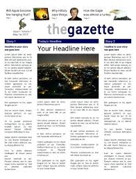 Newspaper Template For Photoshop Printable Newspapers Newspaper Template Free Word Documents Download