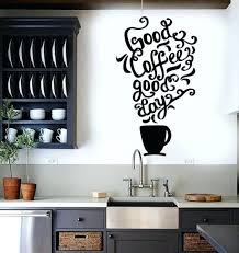 office large size cafe. Remarkable Vinyl Wall Decal Quote Coffee Kitchen Shop Restaurant Cafe Art Stickers Office Furniture Appliques For Large Size R
