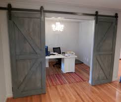 contemporary home office sliding barn. Office:Modern Home Office With Sliding Barn Doors British Desgn Idea Gray Wood Contemporary D