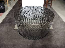 coffee table seams to fit home round woven seagrass dsc
