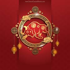 Send chinese new year greetings to your family, friends, business associates, colleagues, boss, relatives and make them a part of the. Editable Chinese New Year Ox Templates Create Custom Wishes