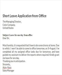 Application For Leave To Manager How To Write Application For Leave In Office 7 New Company Driver