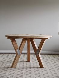 y truss round table diy wood