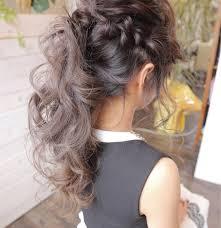 アッシュ ポニーテール ヘアアレンジ ロングhalo Hair Design 小川淳之