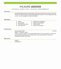 Resume Examples For Retail Sales Associate Sample Resumes LiveCareer Interesting Live Carreer