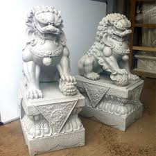 large outdoor lion statues guardian lion statue foo dog statues for garden for