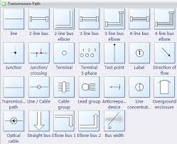 transmission path symbols for electrical schematic diagrams