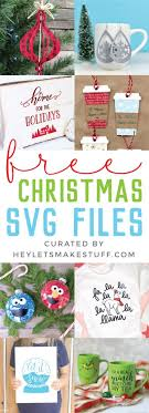 Yesterday on day one i made a free 'merry christmas' svg full of wonderful swirls that you i cut mine with my cricut explore cutting machine. Free Svg Files For Christmas Hey Let S Make Stuff