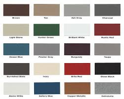 Mueller Metal Buildings Color Chart Mueller Metal Roofing Colors 12 300 About Roof