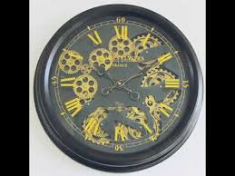 gold moving gear wall clock you