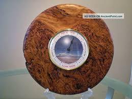 wood clock australian black burl wood turned wall tide clock other photo