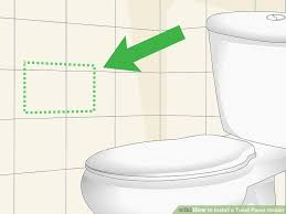 image titled install a toilet paper holder step 1