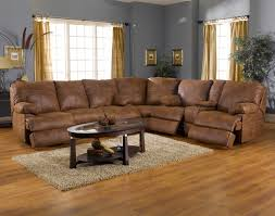 sectional sofas with recliner brown colour left right arm loveseat beautifull picture and plant decoration spiral