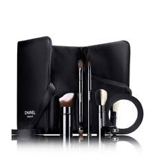 2017 les indispensables de chanel retractable make up brush set case mirror new