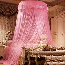 Amazon.com: Dome ceiling mosquito net, Encrypted princess dome bed ...