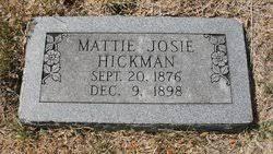 Mattie Josie Boyd Hickman (1876-1898) - Find A Grave Memorial