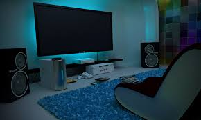 game room lighting ideas. gonna have to put lights behind our game room tv now lighting ideas