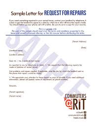 Sample Letter Forrequest For Repairs
