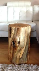 stump side table diy full size of log furniture wood tree