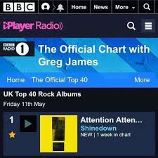 Radio 1 Rock Chart Repost Shinedown Attention Attention 1 Rock And Metal Uk